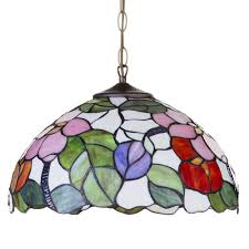 Coloured Chandelier by Floral 16 Inch Ceiling Pendant Shade Multi Coloured