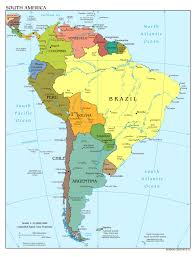 amarican map map of south america with capitals in throughout interactive