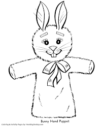 easter bunny coloring pages easter bunny puppet honkingdonkey