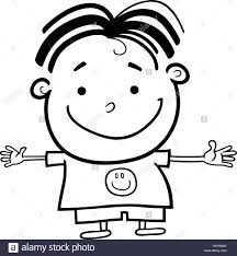 coloring pages happy boy page boy black and white stock photos images alamy