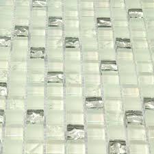 white glass iridescent kitchen backsplash tiles