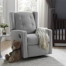 amazon com baby relax mikayla swivel gliding recliner gray linen