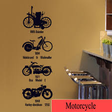 personalise home decoration creative wall sticker motorcycle