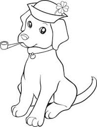 dog color pages printable dog coloring pages printable cute