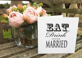 Eat Drink And Be Married Invitations Bespoke Wedding Invitations London Surrey Sussex Kent Berkshire