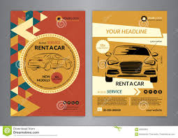 background insurance flyer template cover brochure stock