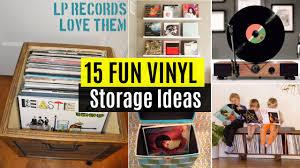 15 fun vinyl record storage ideas youtube