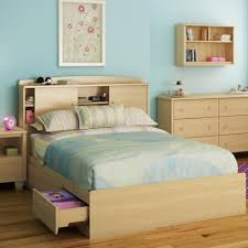 buy clever room bookcase headboard size full finish natural maple