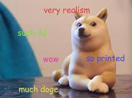 Shiba Meme - new 3d printed ceramic doge statue shiba inus figurine shibe dog