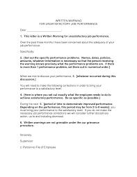 Formal Grievance Letter Template by Written Warning Template Cyberuse