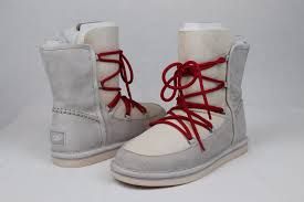 s lace up boots australia ugg australia lodge moonrise sheepskin suede lace up boots
