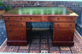 sold antique desks partners desks pedestal desks