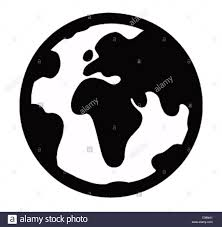 Black World Map by Globe Logo Globe Earth Globe Geography Globe Globe World Map Map