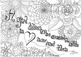 a crossed in love jane austen quote coloring page