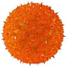 50 orange bulbs light sphere 6 in