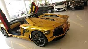 gold chrome lamborghini aventador lamborghini aventador roadster tonywrap gold chrome the