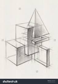 stock photo solid geometric shapes illustration of geometric