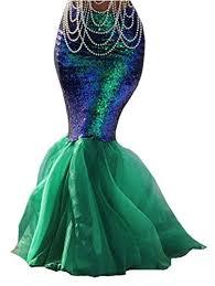 Womens Mermaid Halloween Costume Women Halloween Costume Cosplay Mermaid Fancy Dress Skirt Https