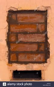 build plaster repair brick fireplace stove hole cement