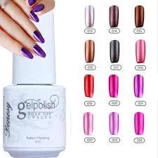 gelish nail polish uv gel metallic mirror effect soak off nail