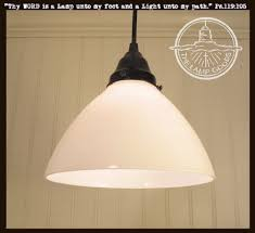 Cone Pendant Light Milk Glass Pendant Light Cone Shade The L Goods