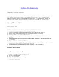 Job Description For Bartender On Resume by Sample Resume For A Restaurant Job Httpwwwresumecareerinfo Resume