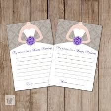 Advice Cards For The Bride Wedding Bridal Shower Advice Card Purple Grey Chevron U2013 Pink The Cat