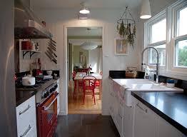 melbourne galley kitchen design photos beach style with black trim
