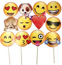K Hen Zubeh Jzk 12 X Emoji Foto Verkleidung Papier Partei Amazon De