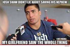 Manti Te O Meme - manti te o dragged back into spotlight thanks to josh shaw