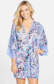 in bloom by jonquil in bloom by jonquil petals chiffon robe available at