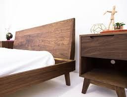 Walnut Bed Frame Custom Made The Bosco Mid Century Modern Solid Walnut Bed Beds