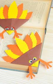 kid u0027s craft diy thanksgiving turkey bookmark blitsy