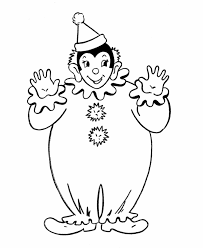 clown coloring sheets coloring home