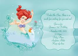little mermaid party invitations theruntime com