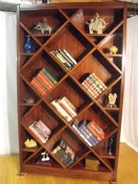 bookcase curio with diagonal shelves design ideas pinterest