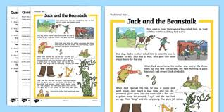 jack and the beanstalk traditional tales differentiated reading