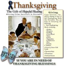 2015 thanksgiving meal baskets and hopeful healing crime