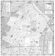 City Of Los Angeles District Map by The Downey Historical Society