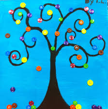 spring crafts angela anderson art blog button trees kids art
