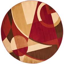 Red Area Rug by Safavieh Porcello Red Multi 5 Ft X 5 Ft Round Area Rug Prl6845