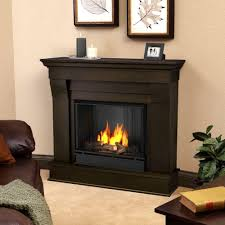 Portable Gas Fireplace by Real Flame Ashley 48 In Gel Fuel Fireplace In White 7100 W The