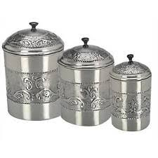stainless steel canister sets kitchen stainless steel kitchen canister sets ebay