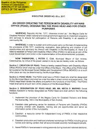 st駱hane bureau executive order no 6 s 2017 municipality of san andres