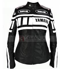 white motorcycle jacket yamaha black and white women biker racing leather jacket sale