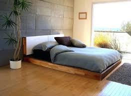 Modern Platform Bed King Contemporary Black Leather Platform Bed With Lights Intended For