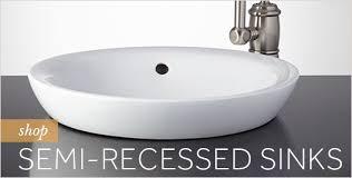 semi recessed bathroom sinks semi recessed bathroom sink bathrooms