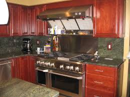 steel tags backsplash ideas for kitchens with granite