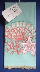 starfish towel new artistic accents kitchen towel embroidered starfish blue