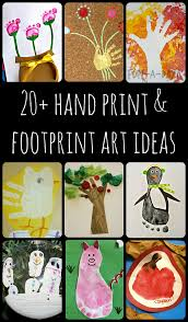 20 ideas for hand and footprint art